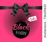 vector web black friday banner... | Shutterstock .eps vector #736105633