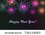 happy new 2018 year. seasons... | Shutterstock .eps vector #736114003