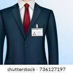 formally dressed in classic... | Shutterstock .eps vector #736127197