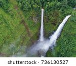 beautiful waterfall.tad fan... | Shutterstock . vector #736130527