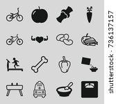 healthy icons set. set of 16... | Shutterstock .eps vector #736137157