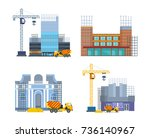 building work process with... | Shutterstock .eps vector #736140967