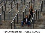 strange fashionable elegant... | Shutterstock . vector #736146937