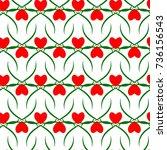 heart seamless pattern. fashion ... | Shutterstock .eps vector #736156543