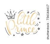 little prince vector poster...   Shutterstock .eps vector #736166617