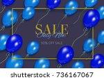vector realistic banner  poster ... | Shutterstock .eps vector #736167067