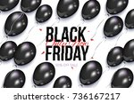 black friday rectangular... | Shutterstock .eps vector #736167217