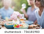 close up on a colored salad in... | Shutterstock . vector #736181983