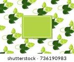 vector poster  banner or... | Shutterstock .eps vector #736190983