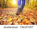 young girl in jeans and...   Shutterstock . vector #736197397