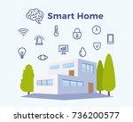 smart home abstract vector...   Shutterstock .eps vector #736200577