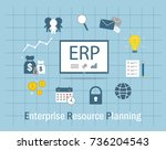 enterprise resource planning... | Shutterstock .eps vector #736204543