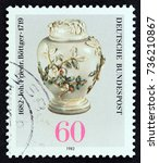 germany   circa 1982  a stamp... | Shutterstock . vector #736210867