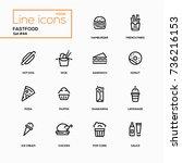 fastfood concept   line design... | Shutterstock .eps vector #736216153