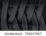 closeup lacing background... | Shutterstock . vector #736217467