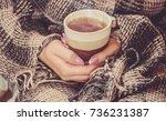 hot tea. selective focus.    Shutterstock . vector #736231387