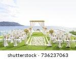 wedding set up | Shutterstock . vector #736237063