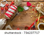 the concept of making gifts for ... | Shutterstock . vector #736237717