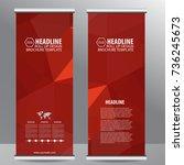 roll up business brochure flyer ... | Shutterstock .eps vector #736245673