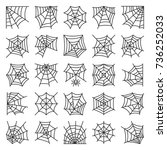 spider web thin line icon set.... | Shutterstock .eps vector #736252033