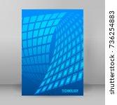 modern geometrical blue... | Shutterstock .eps vector #736254883