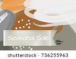 sale advertisement banner on... | Shutterstock .eps vector #736255963