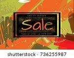 gold shiny glitter sale... | Shutterstock .eps vector #736255987