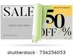sale advertisement banner on... | Shutterstock .eps vector #736256053