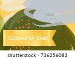 sale advertisement banner on... | Shutterstock .eps vector #736256083