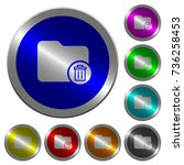 delete directory icons on round ... | Shutterstock .eps vector #736258453