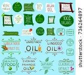 big vector set of different... | Shutterstock .eps vector #736264897
