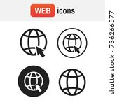icon www. go to web icons set... | Shutterstock .eps vector #736266577