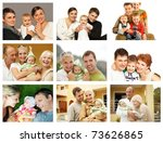 happy family collage | Shutterstock . vector #73626865