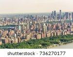 aerial view of midtown... | Shutterstock . vector #736270177
