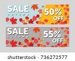autumn sale background template.... | Shutterstock .eps vector #736272577
