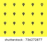 light bulb icon set. idea... | Shutterstock .eps vector #736272877