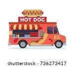 modern delicious commercial... | Shutterstock .eps vector #736273417