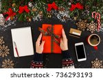 getting online delivery of... | Shutterstock . vector #736293193