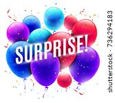 color glossy balloons | Shutterstock . vector #736294183
