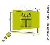 gift. flat geometric vector...   Shutterstock .eps vector #736310383