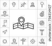 pin on road. navigation system. ... | Shutterstock .eps vector #736314427