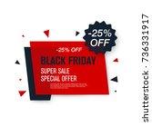 black friday sale label. stock... | Shutterstock .eps vector #736331917