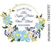wedding invitation card suite... | Shutterstock .eps vector #736335757