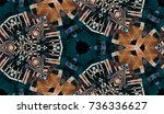 abstract hand painted... | Shutterstock . vector #736336627
