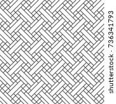 modern stylish linear weave... | Shutterstock .eps vector #736341793