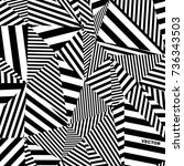 black and white pattern ... | Shutterstock .eps vector #736343503