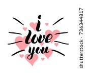 i love you template for banner... | Shutterstock .eps vector #736344817
