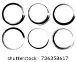 grunge circles  brush strokes . ... | Shutterstock .eps vector #736358617