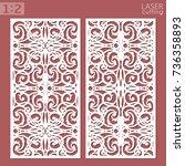 ornamental panels template for... | Shutterstock .eps vector #736358893