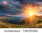 panoramic landscape of... | Shutterstock . vector #736359283